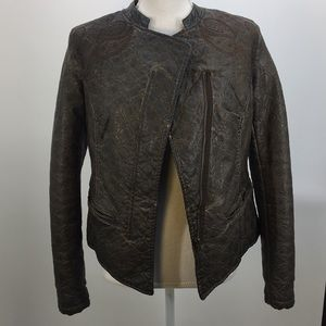 ABS Faux Leather Jacket
